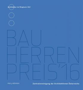 Buchcover Bauherrenpreis 2016